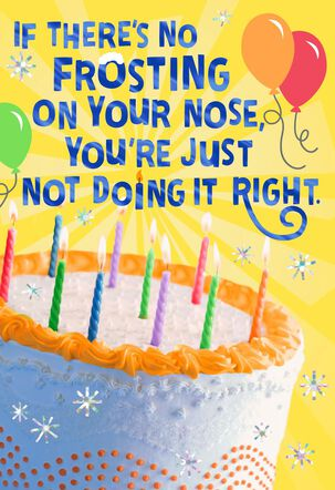 Frosting on Your Nose Musical Birthday Card