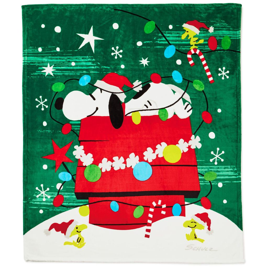 Peanuts® Snoopy Christmas Doghouse Blanket, 50\