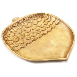 Gold Acorn Serving Plate, Large, , large