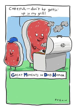 Steaks Grilling Funny Father's Day Card