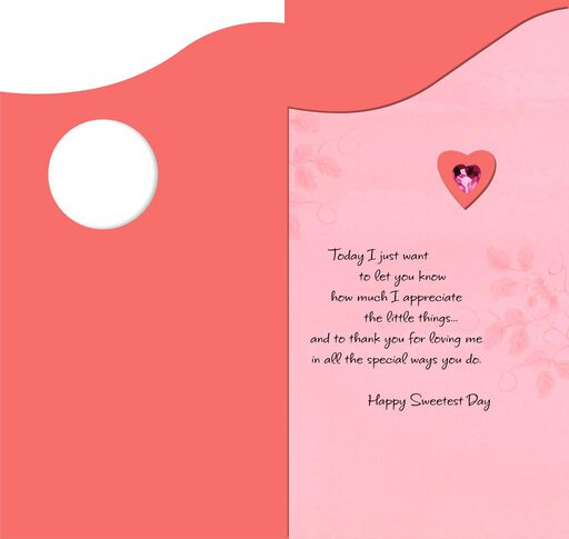 Pink Gem Heart Romantic Sweetest Day Card,