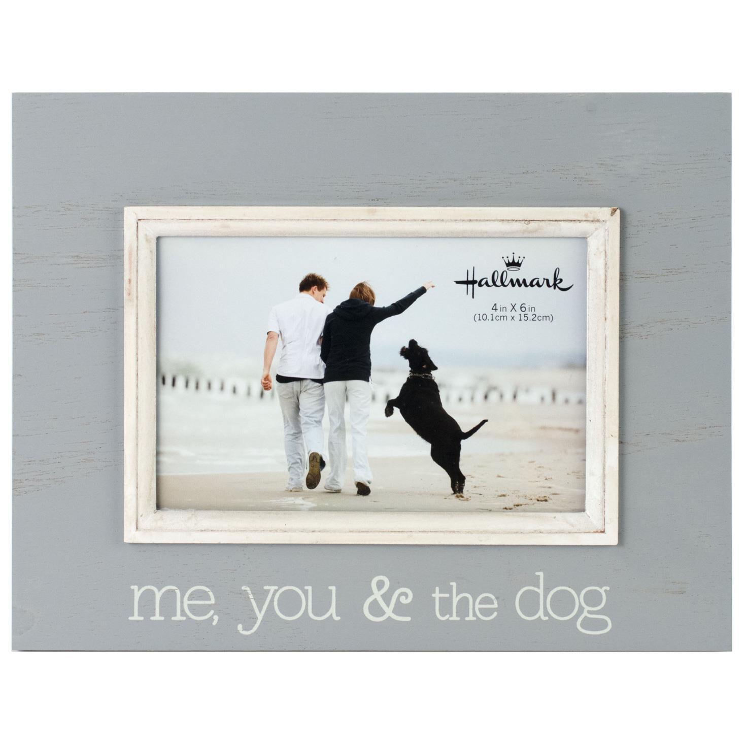 Me you and the dog wood photo frame 4x6 picture frames hallmark jeuxipadfo Images
