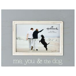 Me, You and the Dog Wood Photo Frame, 4x6, , large