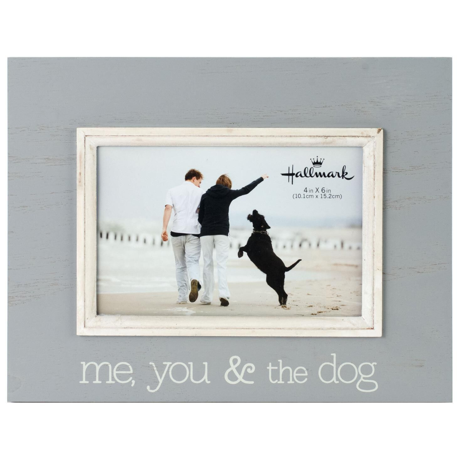 me you and the dog wood photo frame 4x6
