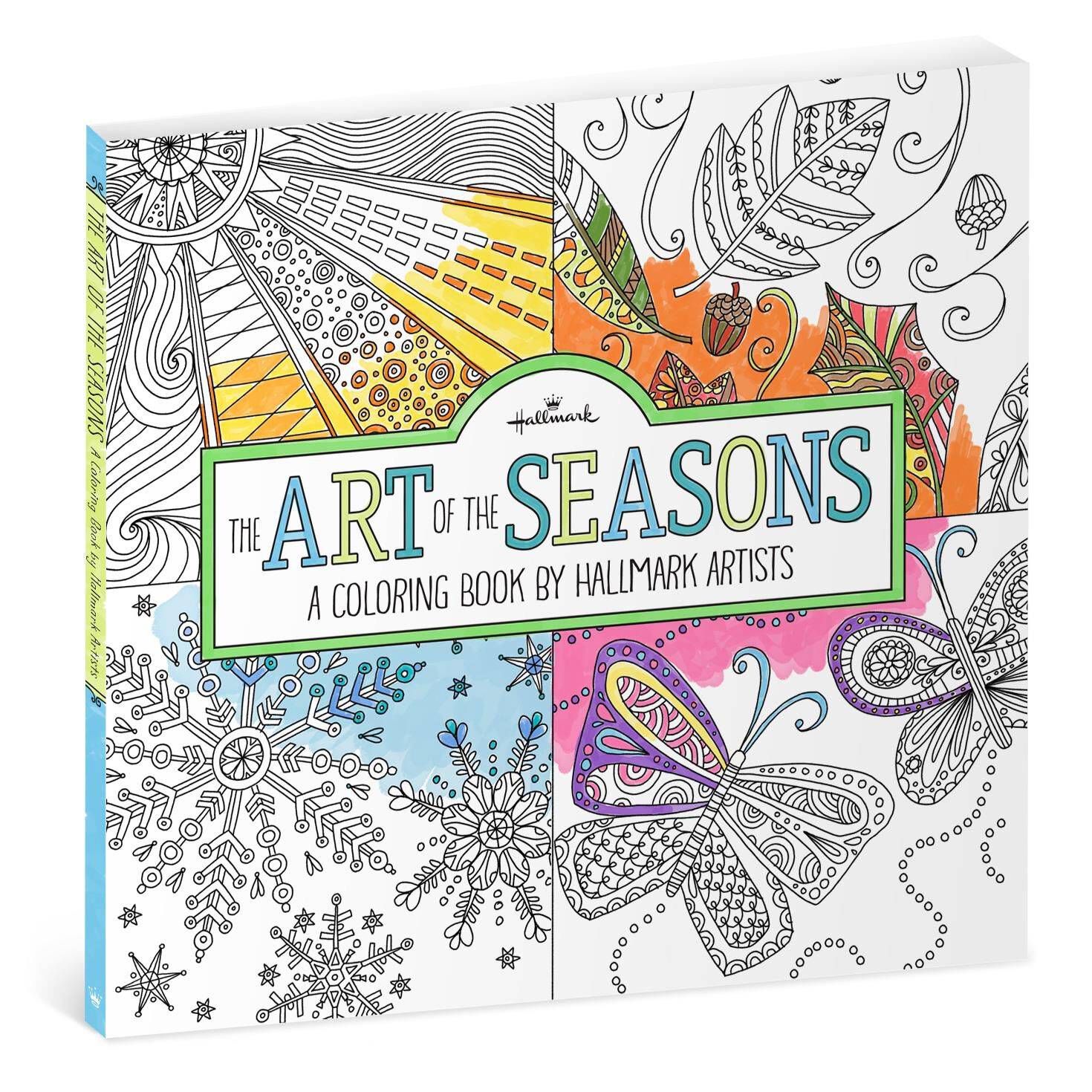 The Art Of Seasons A Coloring Book By Hallmark Artists