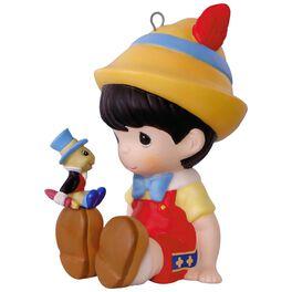 Disney Pinocchio and Jiminy Cricket Precious Moments® Porcelain Ornament, , large