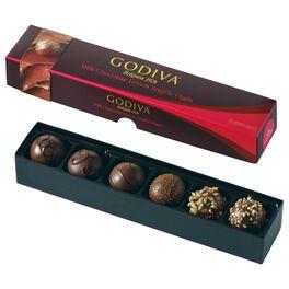 Godiva Chocolatier Milk Chocolate Lovers Truffle Flight in Box, 6 Pieces, , large
