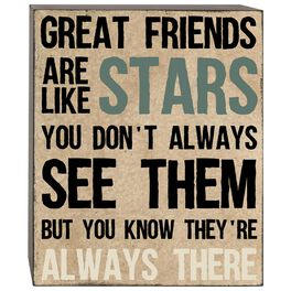 Great Friends Are Like Stars Box Sign, 5x6, , large