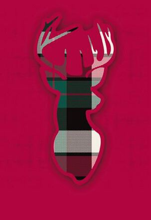Plaid Deer Christmas Card