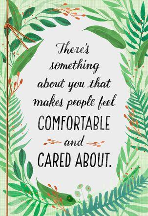 Fern Wreath Thinking of You Card