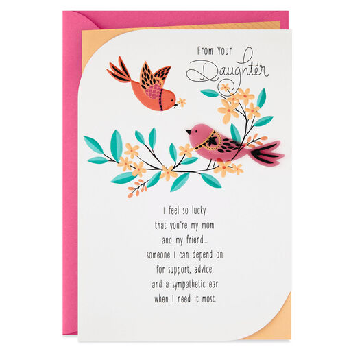 Im Lucky Youre My Mom And Friend Mothers Day Card From