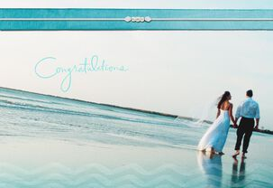 Barefoot on the Beach Wedding Card
