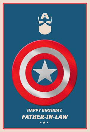 Marvel Captain America Birthday Card for Father-in-Law