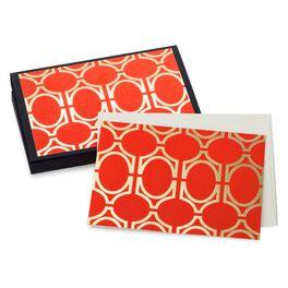 Orange Geometric Note Cards, Pack of 10, , large