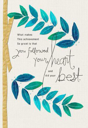 Blue Leafy Branches Congratulations Card