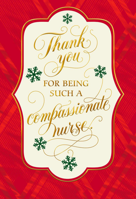 Thank You Christmas Card for Nurse - Greeting Cards - Hallmark