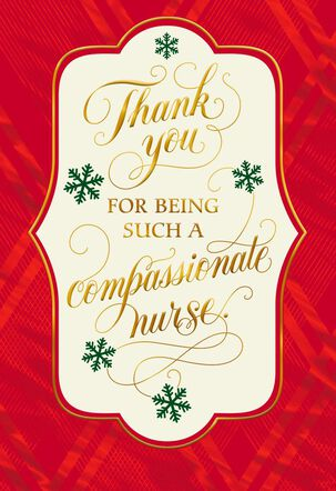 Thank You Christmas Card for Nurse