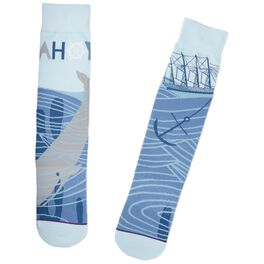 Ahoy Nautical Toe of a Kind Socks, , large