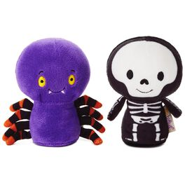 itty bittys® Halloween Spider and Skeleton Stuffed Animals, Set of 2, , large