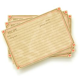 Mickey Mouse Recipe Cards, , large