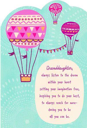 Hot Air Balloons Granddaughter Graduation Card