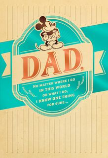 Vintage Mickey Mouse Father's Day Card,