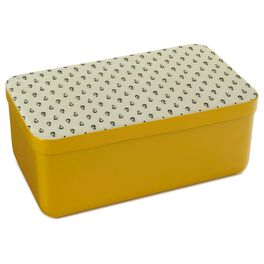 Yellow Decorative Lidded Metal Nesting Box, Large, , large