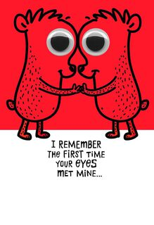 Love at First Sight Funny Sweetest Day Card,