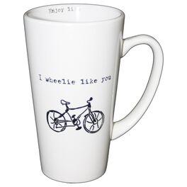 I Wheelie Like You Latte Mug, 16 oz., , large