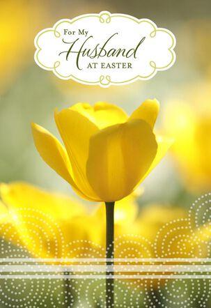 Joy, Love and Gratitude Easter Card for Husband