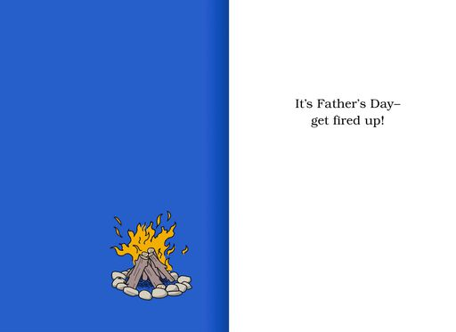 Get Fired Up Funny Father's Day Card,