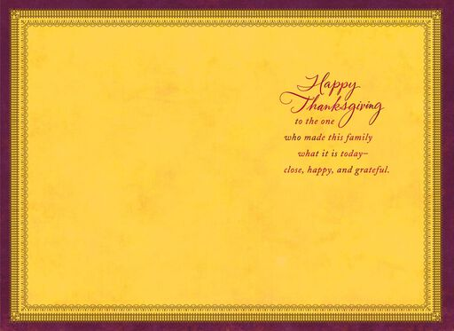 You Made This Family Thanksgiving Card for Mom,