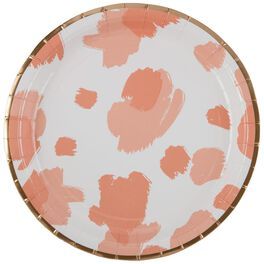 Peach Smudge Paper Dinner Plates, Set of 8, , large