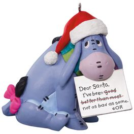 Disney Winnie the Pooh Eeyore A Letter to Santa Ornament, , large