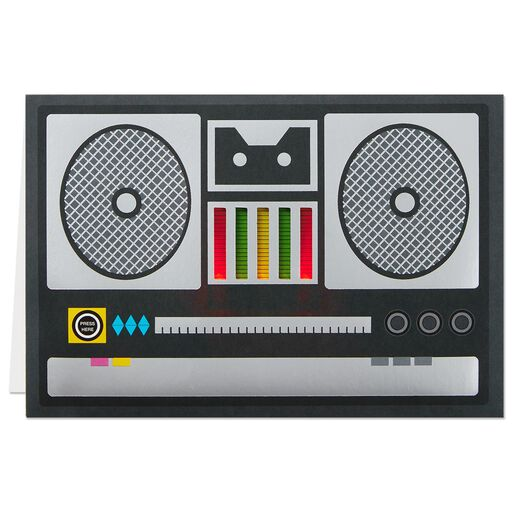 Boom Box Musical Birthday Card With Lights