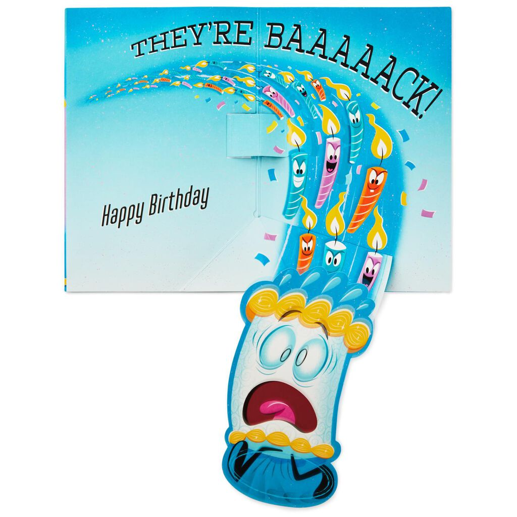 Running Candles Musical Birthday Card