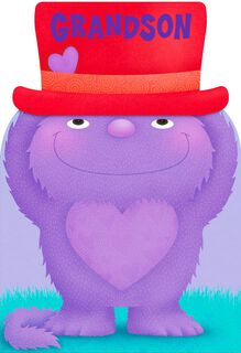 Monsters Galore Valentine's Day Sound Card for Grandson,
