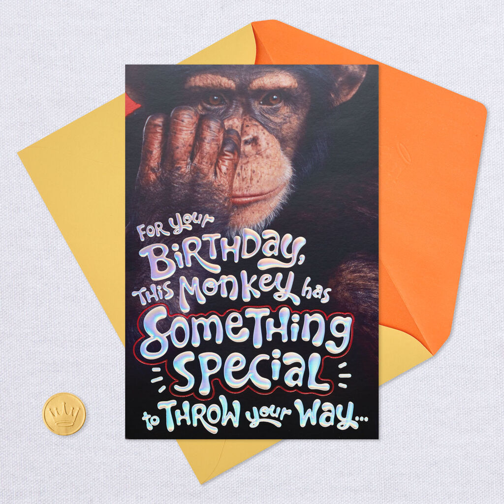 Monkey Around Pop Up Birthday Card