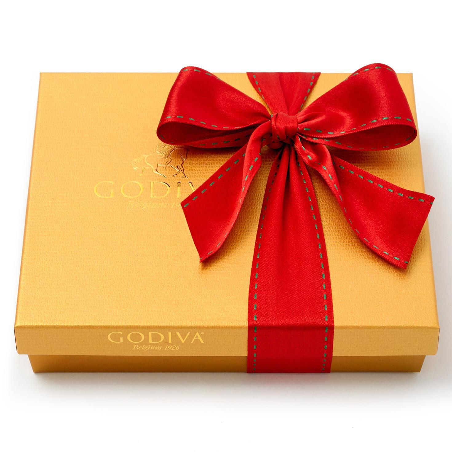 Godiva Chocolatier Assorted Chocolates Gold Holiday Gift Box 19