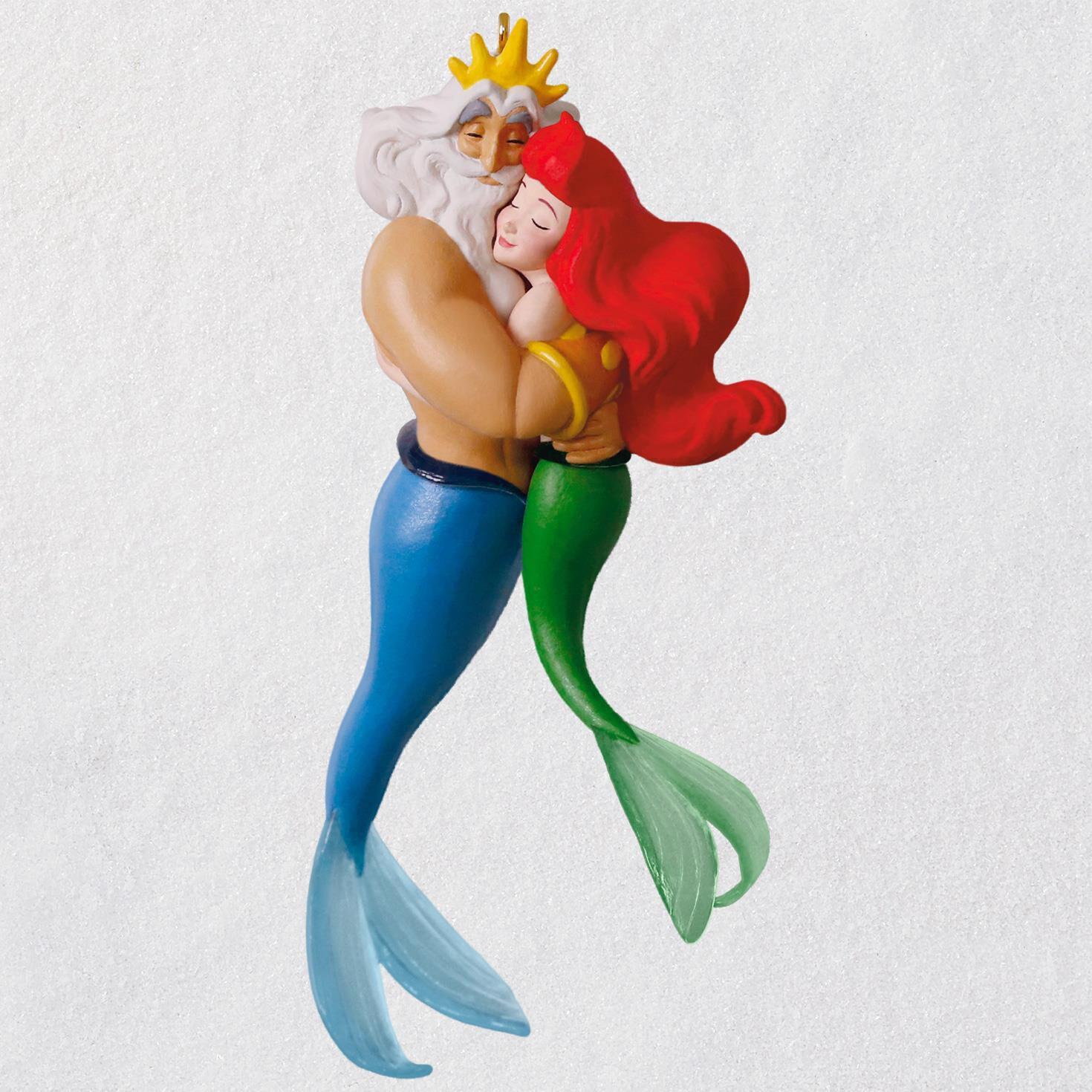 disney the little mermaid ariel and king triton ornament keepsake
