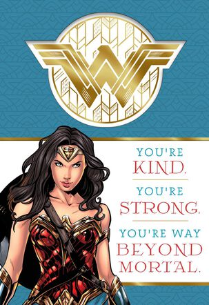 WONDER WOMAN™ Amazing You Birthday Card With Stickers