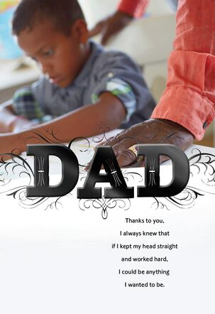 Proud to Be Your Son Father's Day Card