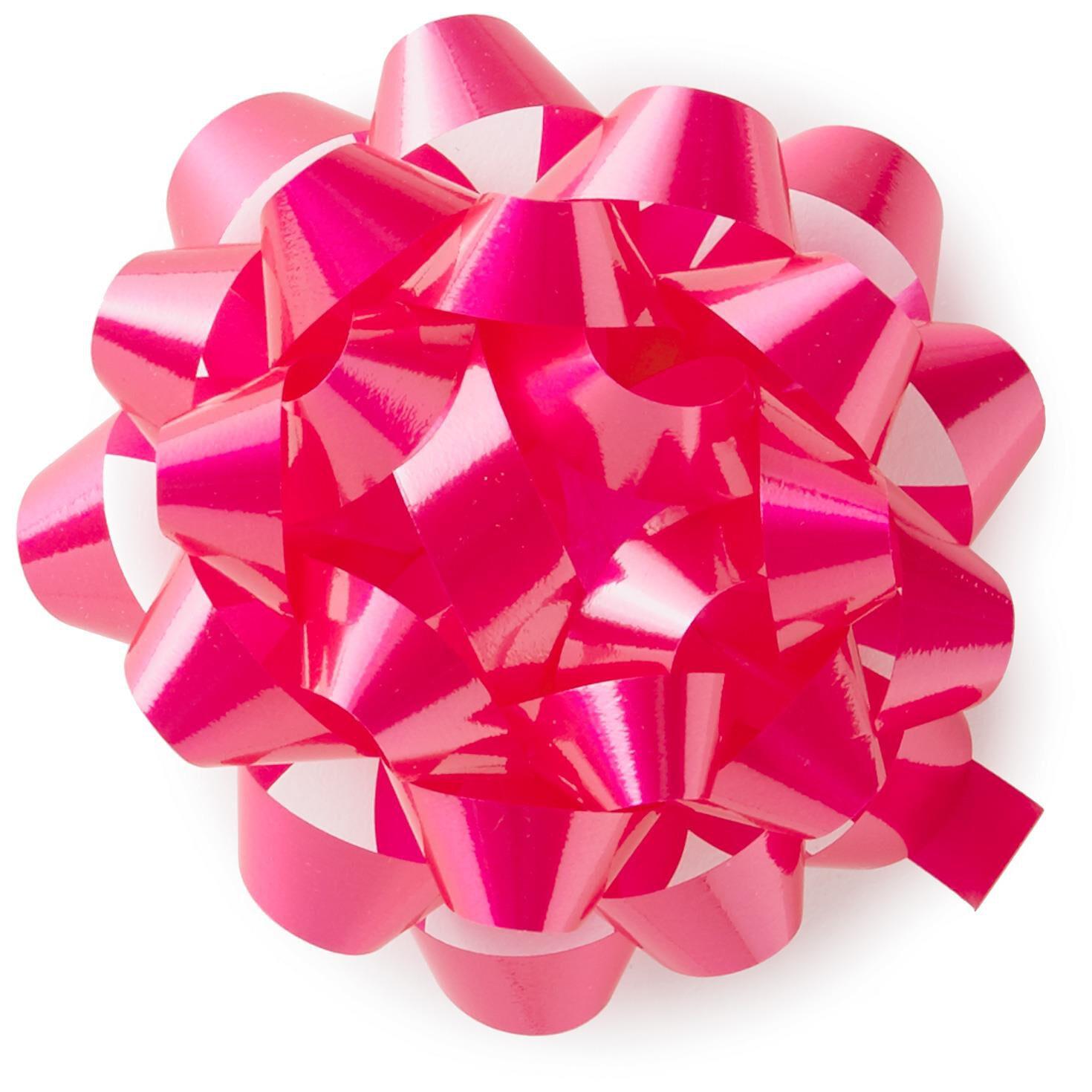 Bright pink high gloss ribbon confetti gift bow 4 58 bows bright pink high gloss ribbon confetti gift bow 4 58 bows ribbons hallmark negle Image collections