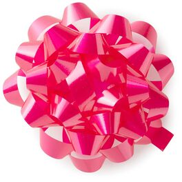 "Bright Pink High Gloss Ribbon Confetti Gift Bow, 4 5/8"", , large"
