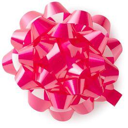 "Bright Pink High Gloss Ribbon Confetti Gift Bow, 4 5/8"", , large"