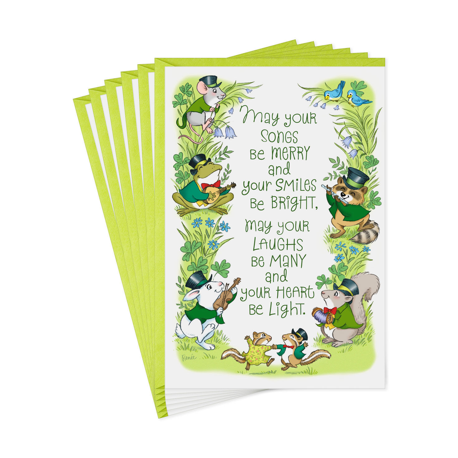 Best of Everything 6 Cards with Envelopes Patricks Day Cards Hallmark Pack of St
