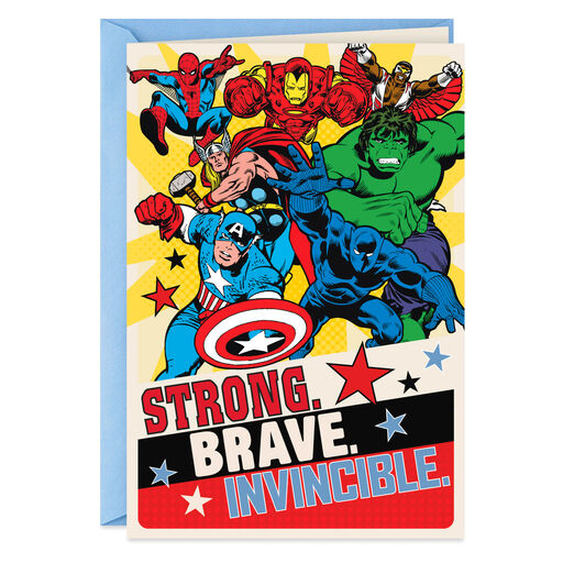 50db7db3 Marvel Avengers Super Hero Dad Father's Day Card, ...