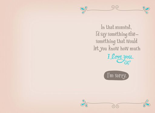 I Love You and I'm Sorry Apology Card,