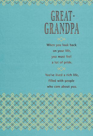 Our Love for You Birthday Card for Great-Grandpa