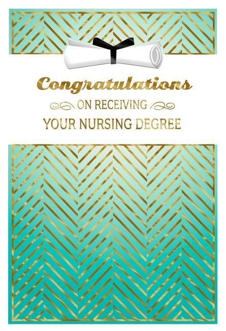Nursing Degree Congratulations Graduation Card Greeting Cards